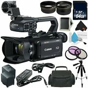 Canon Xa15 Compact Professional Camcorder - Full Hd With Sdi Hdmi And Bundle 8