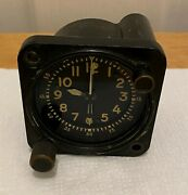 Waltham Precision Instruments Aircraft 8-day Clock Type A-13a-1 Mil-c-6499d