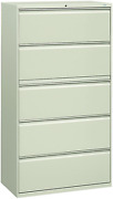 Hon 885lq 800 Series Five-drawer Lateral File, Roll-out/posting Shelves, 36 X 67
