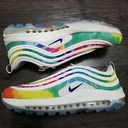 Nike Air Max 97 Tie Dye Nrg Golf Shoes Mens 13 Peace Love Spikeless Masters