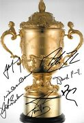 Martin Johnson Mccaw Pienarr Kirk Eales Farr-jones Smit Signed 12x8 Photo