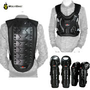 Adult Moto Downhill Racing Armored Jacket And Knee Elbow Gear Chest Back Protector