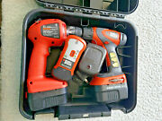 Craftsman 14.4v Drill And Light Combo Set 2 Chargers And Stud Findertested And Case