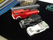 Lot Of 3 Vintage Ho Scale Wiking Germany Plastic Cars And Fire Truck