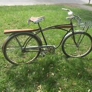 Antique Hiawatha Tank Bicycle With Metal Wire Basket