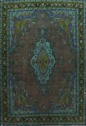 Antique Floral Traditional Oriental Area Rug Handmade Evenly Low Pile Wool 10x13