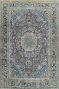 Antique Floral Traditional Handmade Area Rug Evenly Low Pile Wool Carpet 10x13