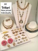 Vintage Jewelry Trifari You Pick Necklaces, Brooches, Dress Clips+
