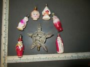 Lot Of Antique Vintage Glass Figural Christmas Light Bulbs Not Tested.