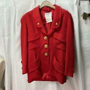 Rare Coco Mark Oversized Buttons Wool Jacket Size M
