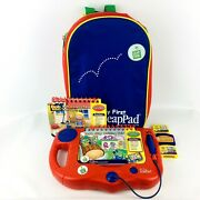 2001 Leap Frog My First Leap Pad Learning System With 2 Books And Backpack