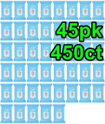 45 X Hand Cleansing Wipes Alcohol Formula Scent Free 10 Ct =450 Total 45 Pack