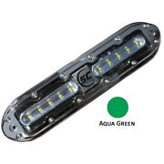 Shadow-caster Scm-10 Led Underwater Light W/20and039 Cable 316 Ss Housing Aqua Gre...