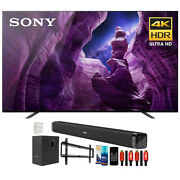 Sony Xbr55a8h 55 A8h 4k Oled Smart Tv 2020 With Deco Gear Home Theater Bundle