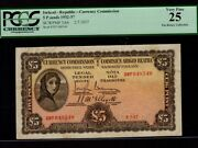 Irelandp-3ab5 Pounds1937 Lady Hazel Lavery Irish Free State Pcgs Vf 25