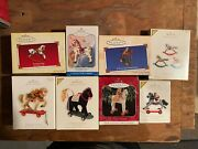 Hallmark Ornaments Lot Of 8 A Pony For Christmas Rocking Horse