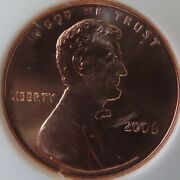 2006 Sms Ngc Ms68rd Lincoln Penny. 038