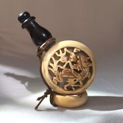 Old Estate Chinese Bovine Bone And Horn Snuff Bottle Perfume Asian China Dragon