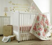 Levtex Baby Charlotte 9-pc Crib Bedding Set Include Mobile/blanket/lamp New
