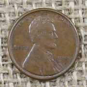 1909-s 1c Au+ Vdb Lincoln Wheat Penny Cent Key Date