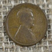 1909-s 1c G/vg Vdb Lincoln Wheat Penny Cent, Key Date