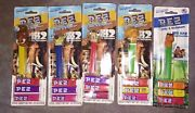 Ice Age 2 - 5 Diff. Pez Dispensers And Candy - On Cards 2006