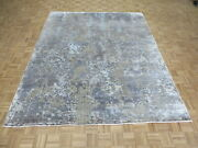 8 X 9and03911 Hand Knotted Multi Colored Modern Abstract Oriental Rug With Silk G9165