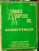Rare Advance Adapters 1974 Catalog 4x4 Accessories Jeep Ford Chevy Dodge Ih Gmc