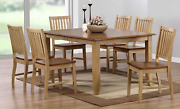 Sunset Trading Brook Dining Set Large Two Sizes Distressed Tone Light Creamy