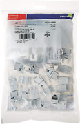 Leviton 61110-jw6 Extreme 6+ Quickport Connector Cat 6 White 150-pack Kitted