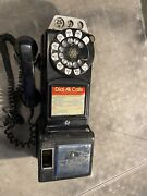 Vintage 3 Slot Rotary Pay Phone Telephone Bell System Western Electric No Key