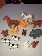 Lego Duplo Animals Lot Of 13 Mother And Cub Lion Elephant Horse Cats And Dogs