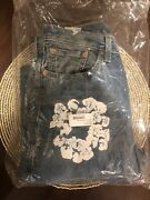 Denim Tears The Cotton Wreath Jeans Light Wash 29x32 In Hand