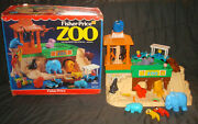 Vintage Fisher Price Little People 916 Play Family Zoo Set Animals People Toy