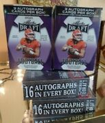 2021 Hobby X 4 Boxes 38 Nfl Rookie Autographs 32 Hard Signed Leaf And Sage