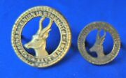 South African Army/military Udf Ww1 Ww2 General Service Brass Cap+beret Badges