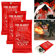 Lot Quick Release Home Office Safety Large Fire Blanket In Case 1mx1mx0.3mm U2z2