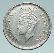 1940 B India States Uk George Vi Antique Old Silver 1/2 Rupee Indian Coin I91003