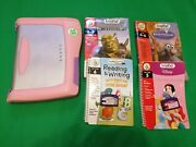 Leap Frog Leap Pad Plus Writing Pink + 4 X Books Childrenand039s Educational Disney