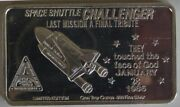 Space Shuttle Challenger Isic-44 1986 Silver Art Bar Very Rare Mintage Of 25