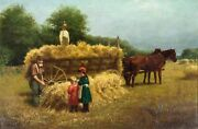 Samuel Carr Ny,uk,1837-1908 Oil Painting Antique