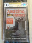 Amazing Adult Fantasy 14 Cgc Ss Stan Lee. Not A Lot Of These Signed.