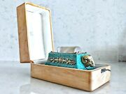 Rare Russian Silver Gilt Amazonite Rock Crystal Fingertip Dampener With Box
