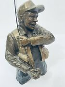 Mark Hopkins Bronze Fly Fishing Sculpture Figurine Gift Limited Edition 13 Coa