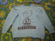 Vintage Spruce Peanuts Snoopy Schroeder Sweat Menand039s Size S Very Rare Light Blue