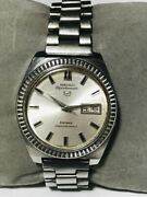 Seiko Sportmatic 5 7619-9040 Vintage Day Date Ss 25 Jewels Automatic Mens Watch