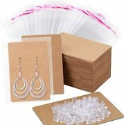 Earring Cards Anezus 100 Pcs Earring Display Cards Earring Holder Cards With