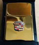 Ubused Cadillac Lowrider Gold Zippo Lighter From Us Very Rare