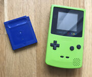 Game Boy Color Lime Green + Pokemon Blue Version - Authentic W/ Saves