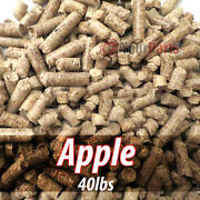 40lbs Of 100 Pure Apple Wood Cooking Bbq Pellets Smoker Grill